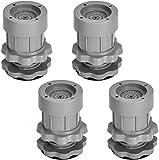 Vibrationsdämpfer, 4 Stück Gummifüße Antivibrationsmatte Universal Schwingungsdämpfer, für Waschmaschinen Trockner Möbel Kühlschrank(Höhenverstellbar 8~9,5 cm)Grau
