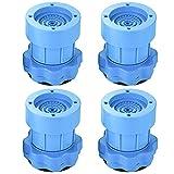Queta Vibrationsdämpfer Schwingungsdämpfer Verstellbare Waschmaschine Antivibrationsmatte für Waschmaschinen Trockner 8-9.5 CM Blau