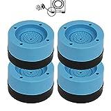Mitening 4 Stück Vibrationsdämpfer, Universal Schwingungsdämpfer, Waschmaschine Fußpolster Anti Vibration Waschmaschine Füße Pad Anti Rutsch Gummi Fußpolster für Waschmaschine & Trockner 4cm (Blau)