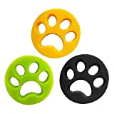 De.Zev 3 Stück Haustier Haarentferner, Tierhaarentferner Haustier für Wäsche, Tierhaarentferner für alle Hundehaar, Haustiere, Katzenfell, Ungiftig Wiederverwendung Fussel Tierhaarentferner