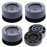 Waschmaschine Fußpolster Vibrationsdämpfer,4 Stück Antivibrationsmatte Vibrationsdämpfer für Waschmaschine & Trockner (4cm)