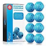 Bluepet® 8X Fusselbälle für die Waschmaschine - Entfernt Tierhaare, Fusseln & Flusen, Haarfänger für Wäschetrockner