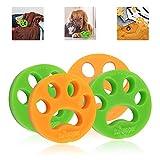 Colmanda 4 Pack Haustier Haarentferner, Tierhaarentferner für Wäsche, Tierhaarentferner für Wäsche für Hundehaar Katzenfell und alle Haustiere, Entfernt Fell in Waschmaschine und Trockner