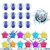 Waschbälle,Waschmaschine Ball,Wäschekugel flusenfreie,Reinigungs Ball,Haustier Haarentferner,Tierhaarentferner Waschmaschine,Fusselbälle Waschkugel,Tierhaarentferner Haarentfernung (Blau und weiß)